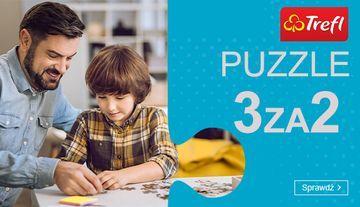 Kup 3 zestawy puzzli Trefl i zapłać za 2