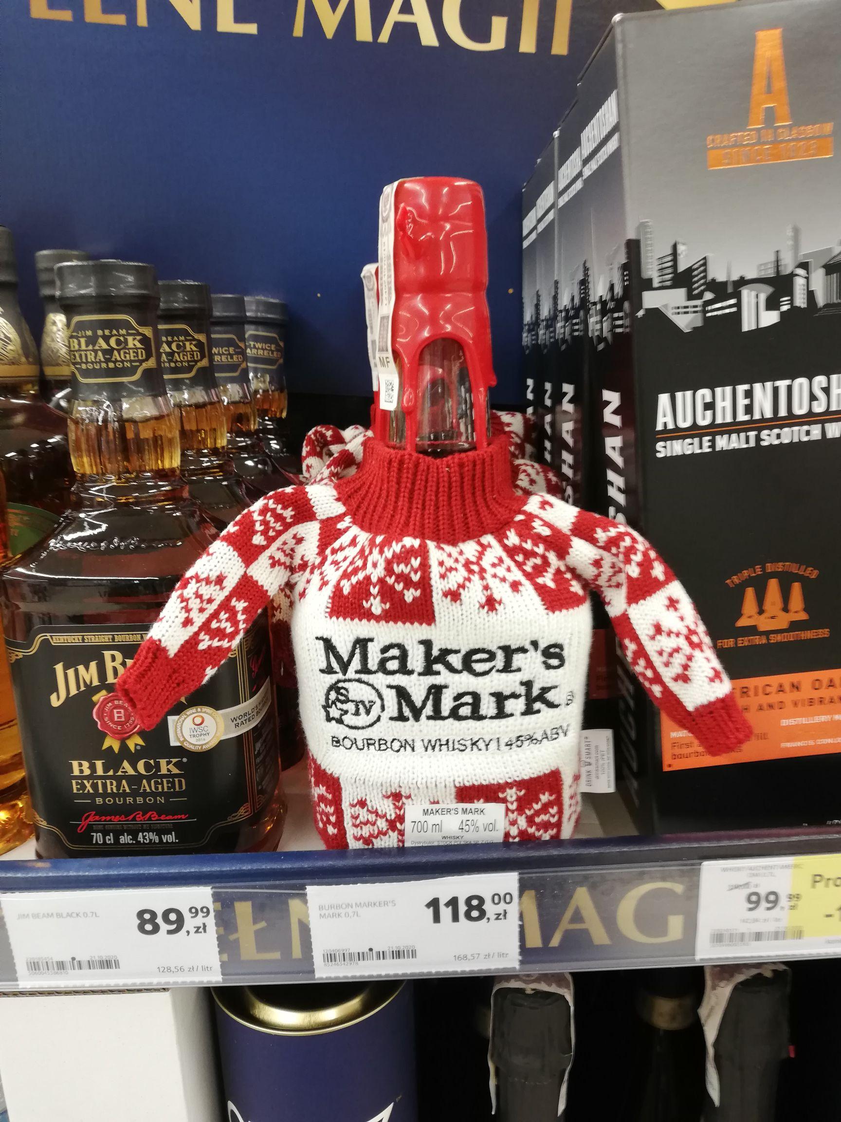 Maker's Mark 0.7l w sweterku Tesco - Whisky / Whiskey Bourbon