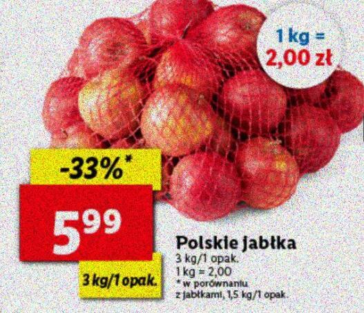 Jabłka 3kg/opak. (2zł/kg) @Lidl