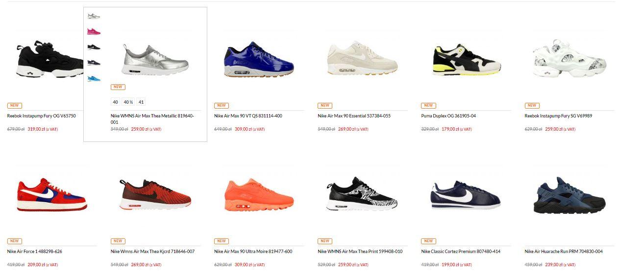 50% rabatu na wybrane modele butów Nike, Adidas, Puma, New Balance, Reebok @ Distance