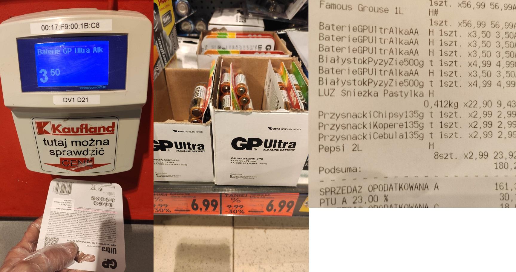 Baterie paluszki GP Ultra AA 6szt. Kaufland Opole