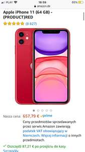 Iphone 11 64GB RED 570,58 €