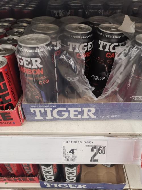 Tiger Carbon 0.5L Auchan Aleje Krakowskie Warszawa