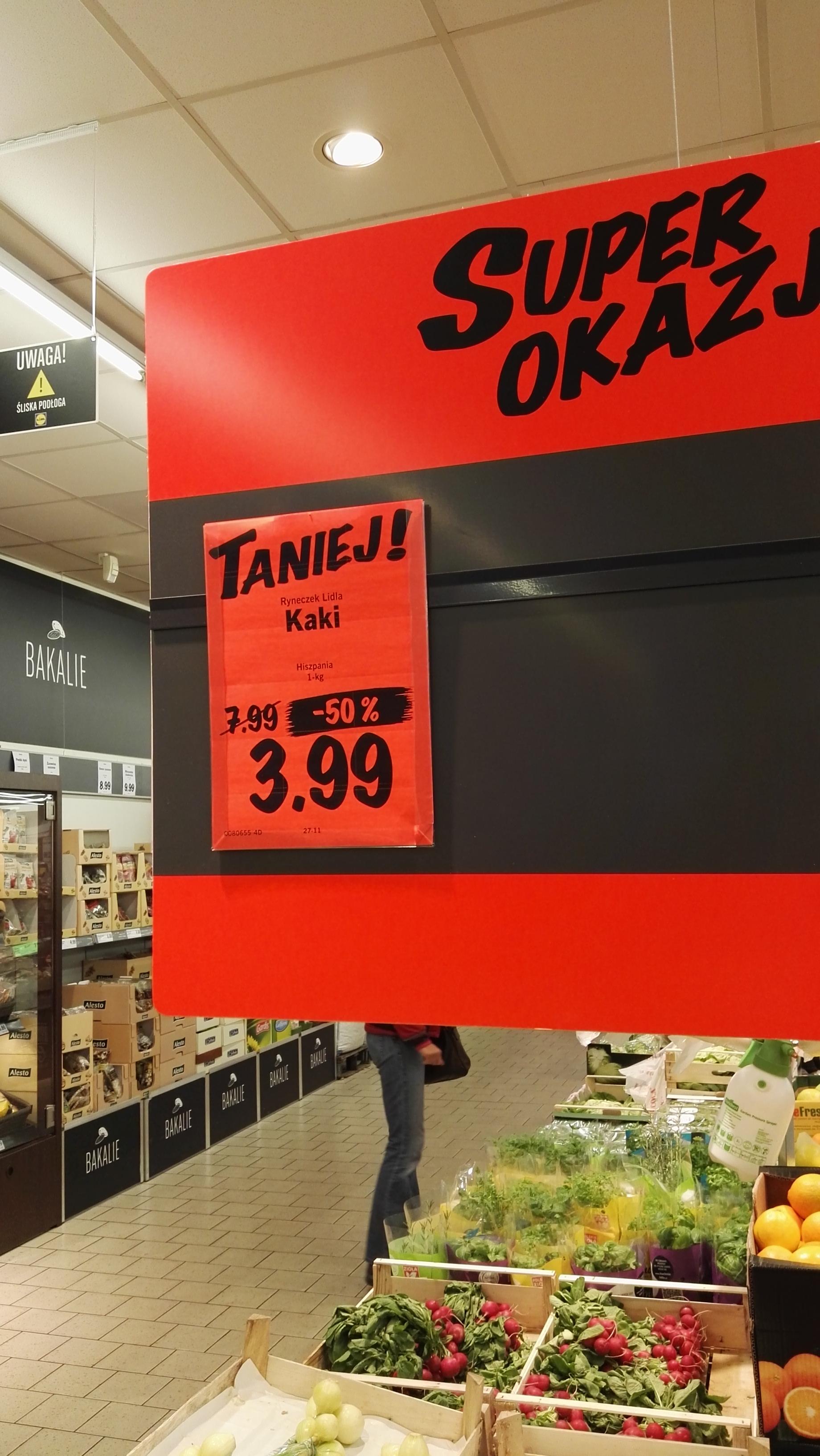 Kaki w Lidlu SUPER CENA!!! 3,99/kg