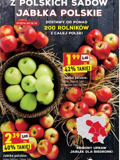 Jabłka Polskie w biedronce