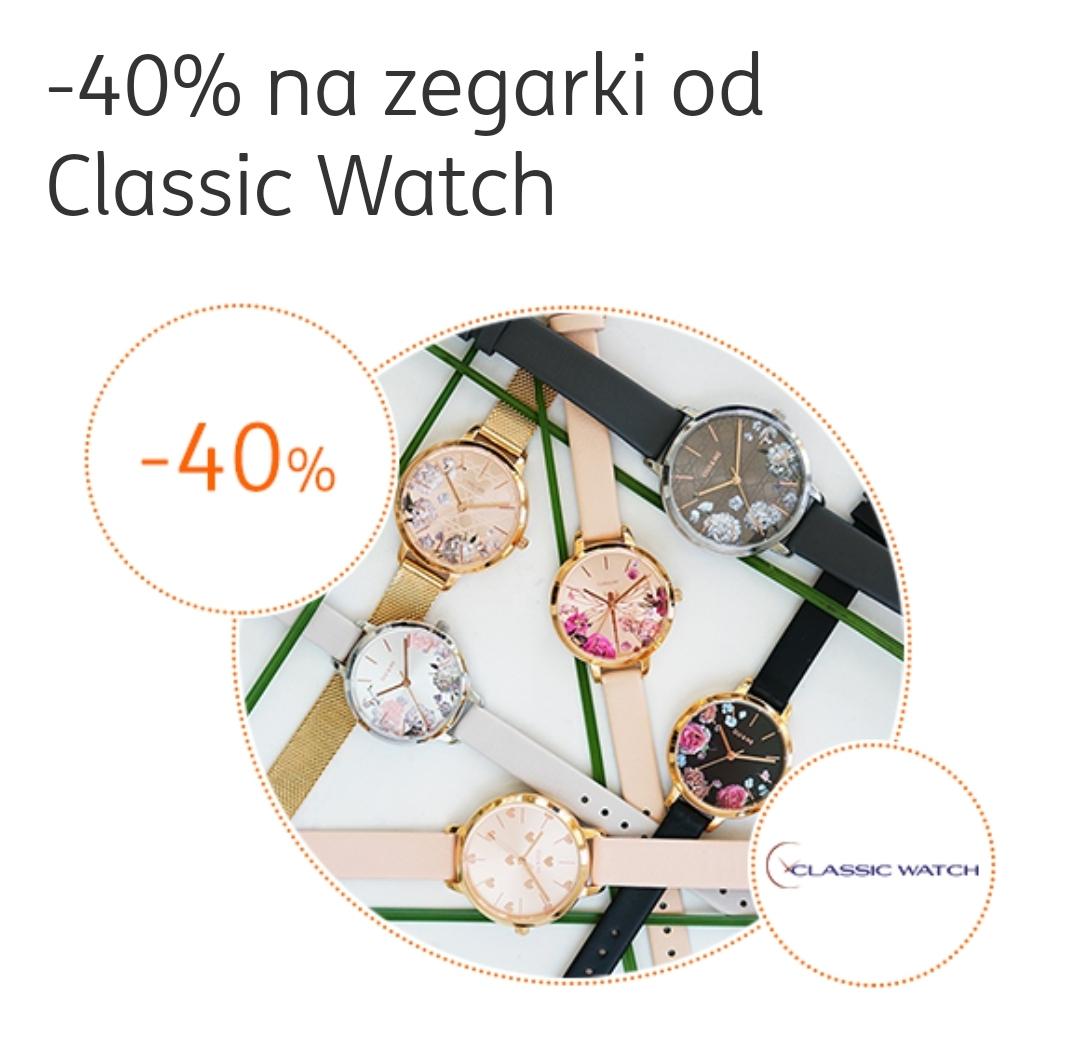 -40% Na Zegarki od Classic Watch (Moje ING)