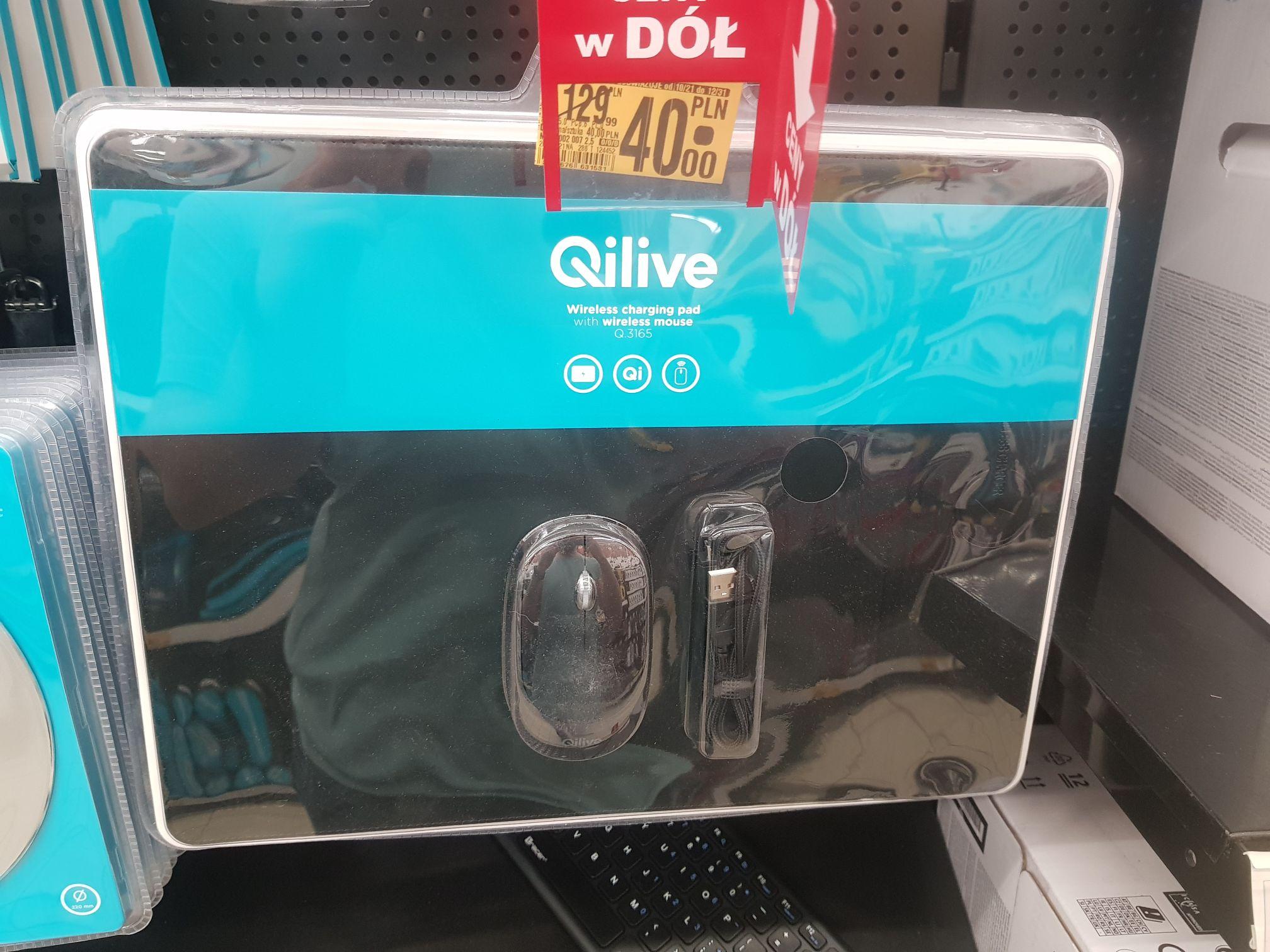 Podkładka z ładowarką indukcyjną i mysz bezprzewodowa / Auchan Franowo