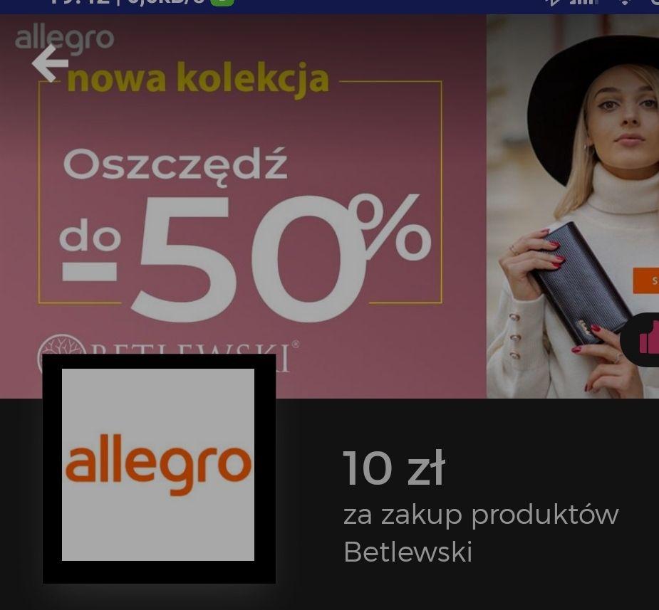 Goodie cashback 10 zł przy zakupie produktów Betlewski za min 20 zł.