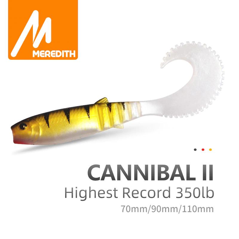 Mega łowne gumy cannibal curtail z Aliexpress (od 9.34zł/2.35USD za 10 sztuk 70mm)
