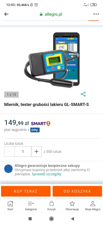 Miernik lakieru Prodigtech gl-smart-s