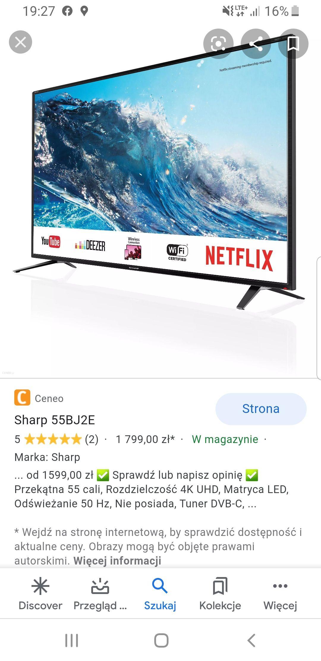 Telewizor Sharp Smart Ultra HD 55BJ2E