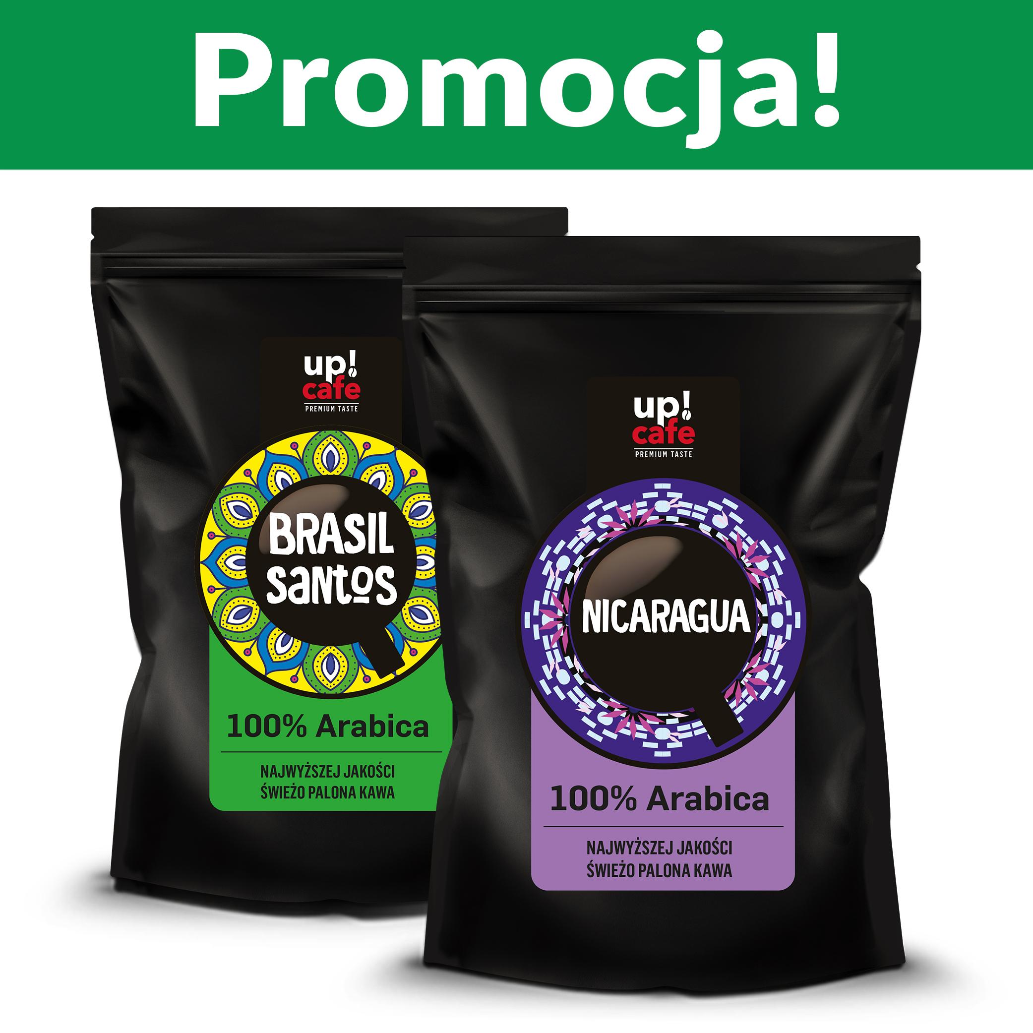 Zestaw kaw 2 kg Nicaragua + Brazylia z palarni upcafe