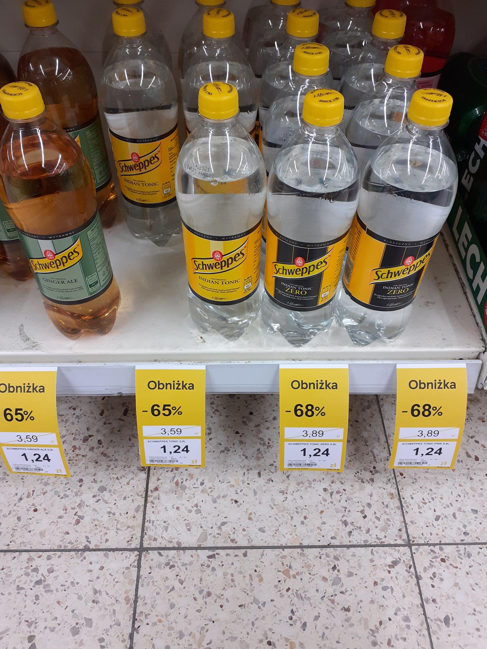 Schweppes 0,9l -68% tesco (gostynin)