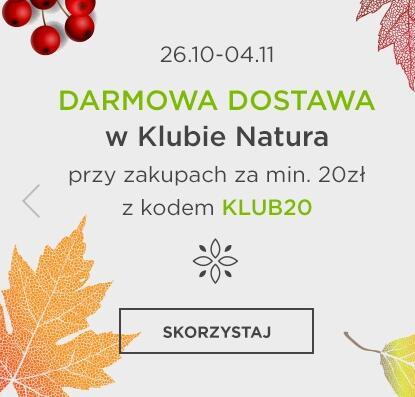Darmowa dostawa w Klubie Natura przy zakupach za min. 20 zł