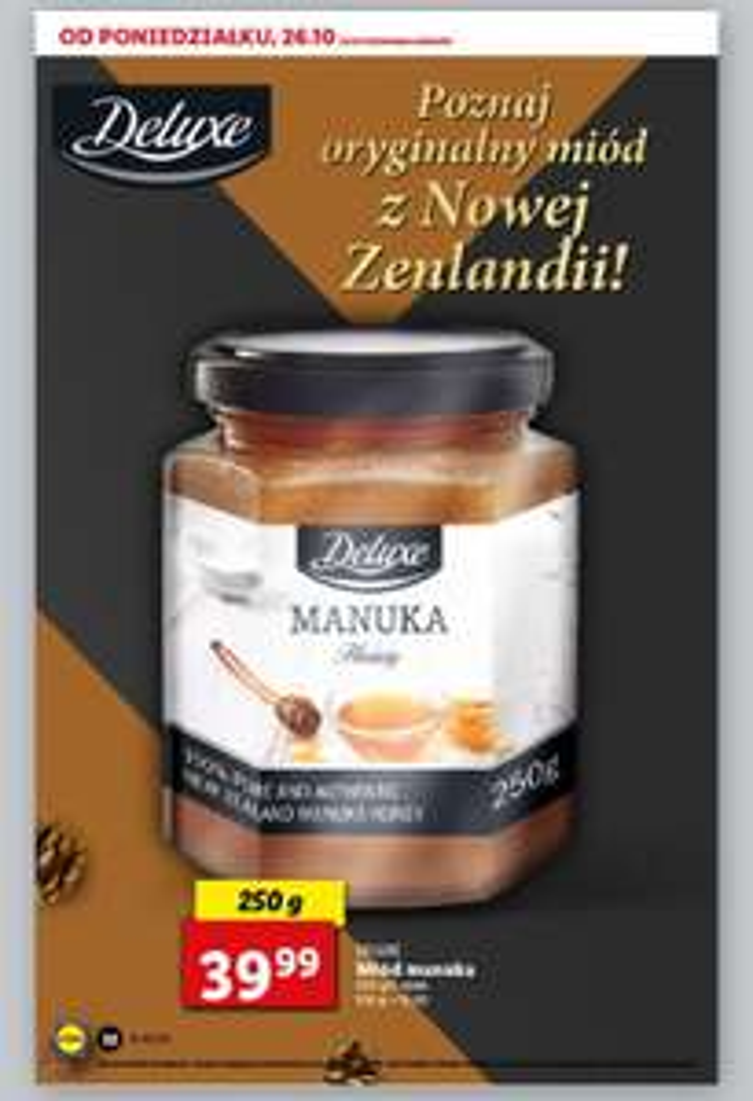 Lidl miód manuka 250g ( Nowa Zelandia )