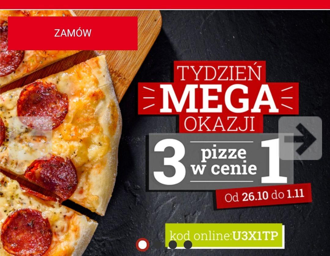 3 pizze w cenie 1. Telepizza, cały tydzień