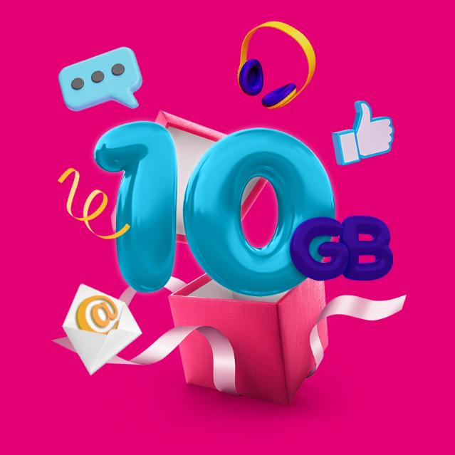 DZIEŃ INTERNETU W T-MOBILE NA KARTĘ I MIX - 10GB na 5dni