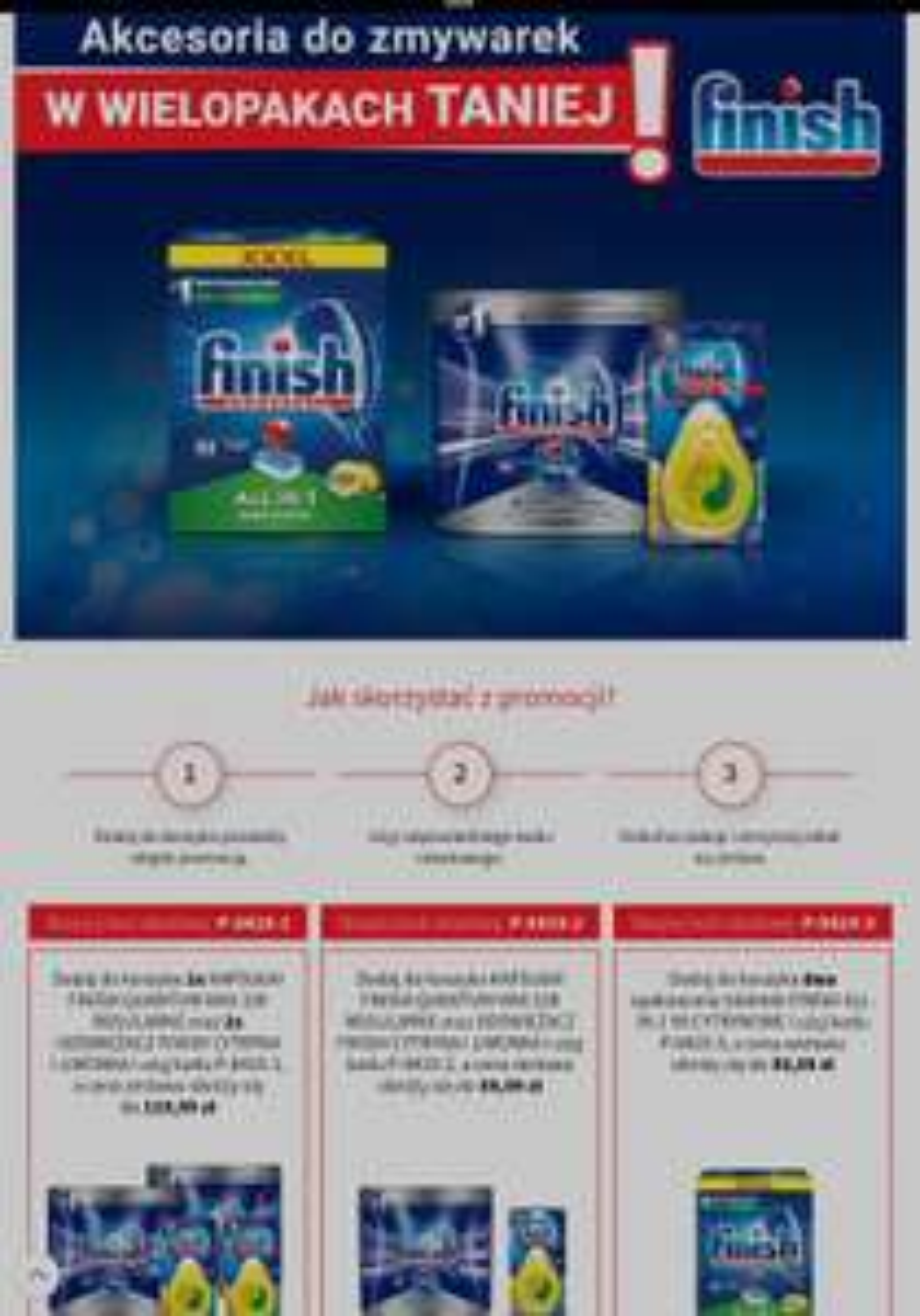 Akcesoria do zmywarek w wielopakach taniej: Finish ALL-IN-1 90 tabletek CYTRYNOWE przy zakupie 2szt