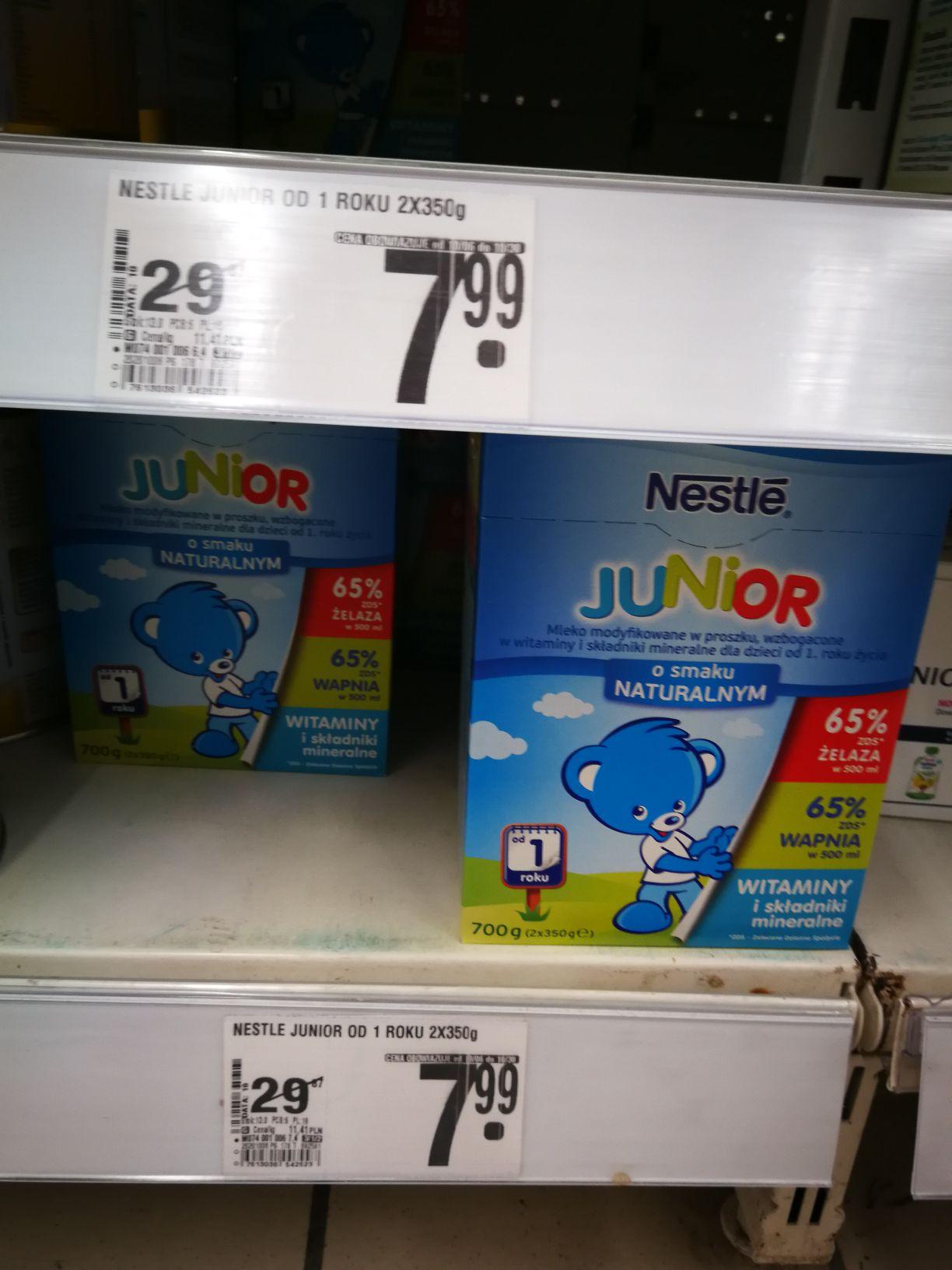 Nestle Junior od 1 roku 700g 7.99 zł [Auchan Warszawa-Ursynów]