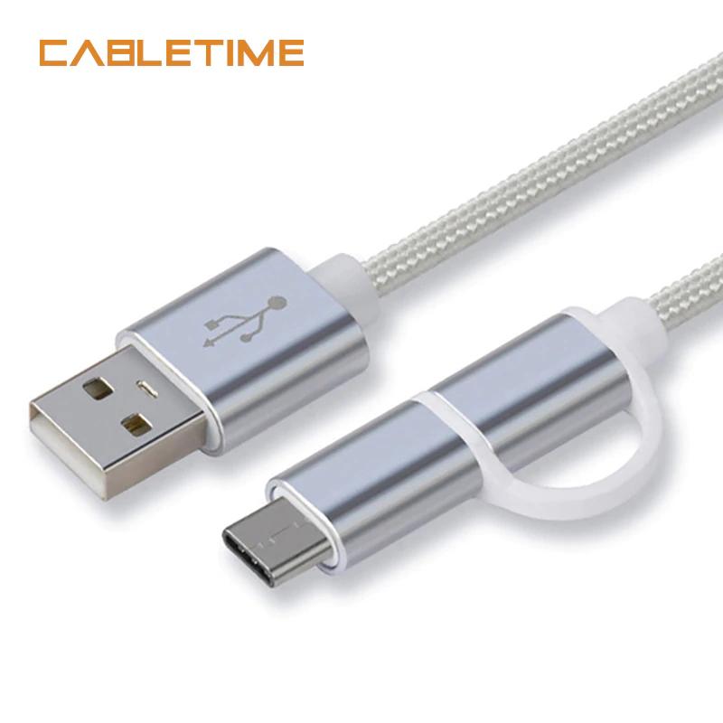 Kod zniżkowy na $1 na kabel 2w1 (micro usb + usb-c) od CableTime @ Aliexpress
