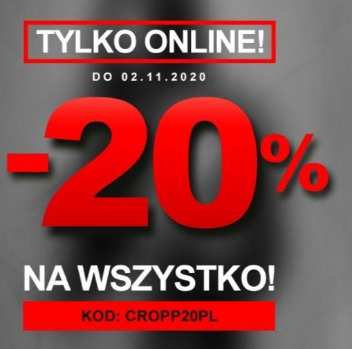 Cropp - 20% na wszystko
