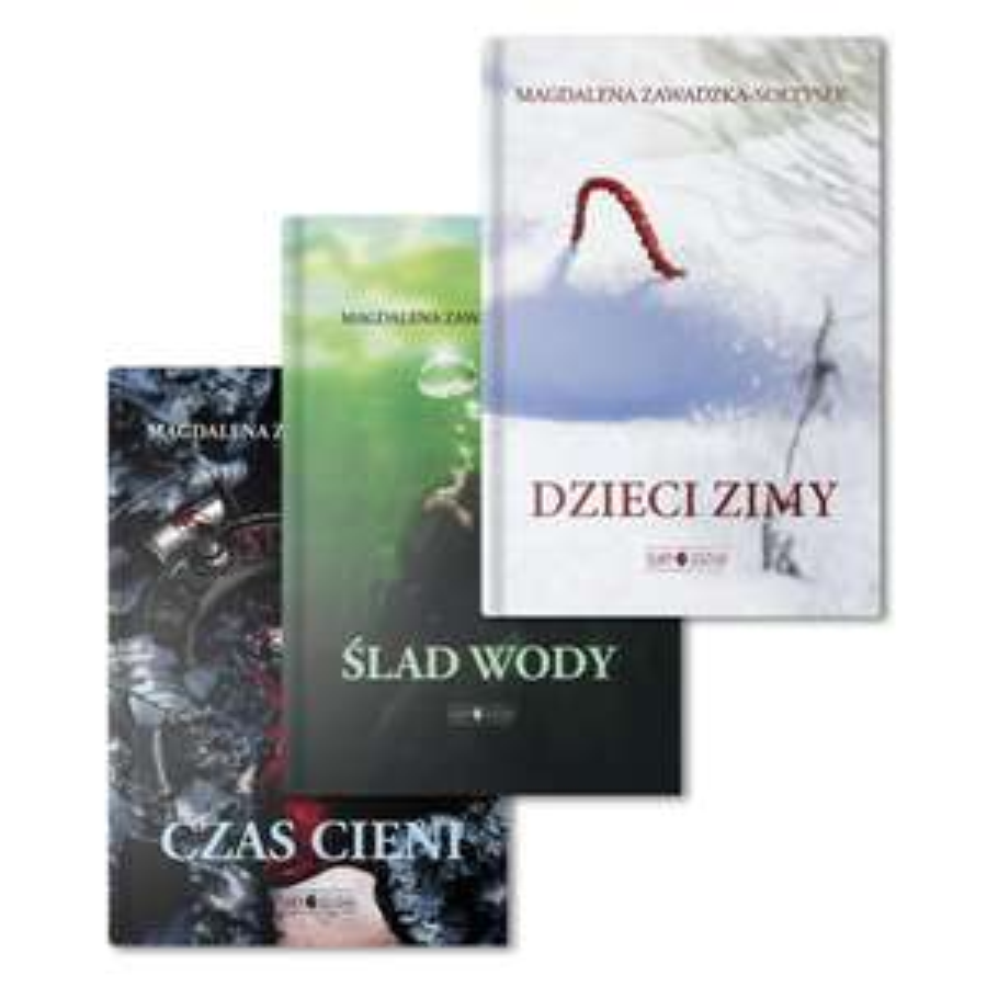 Zestaw trzech książek serii Ślady Leszego (książka)