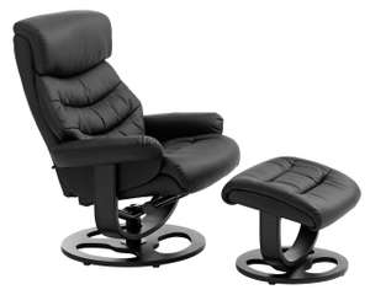 Fotel z podnóżkiem GANTRUP czarny @ Jysk