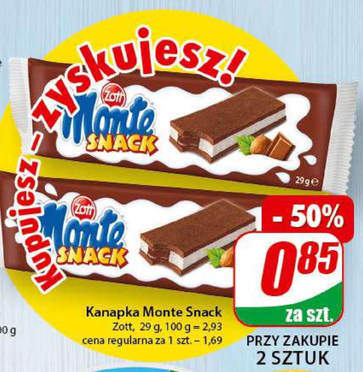 Kanapka Monte Snack 29g Zott (cena przy zakupie 2szt.) - DINO