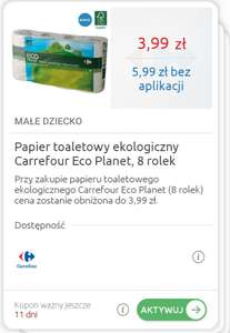 Papier toaletowy Eco Planet 8 rolek w Carrefour max 6 op.
