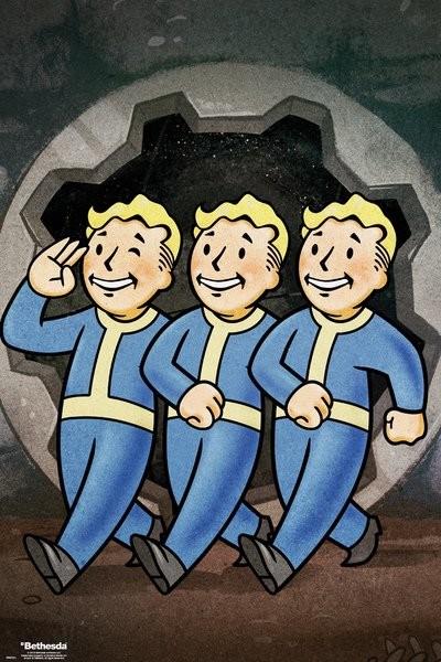 Plakat Fallout Vault Boys i promocja 3+1 gratis i -20% za newsletter!