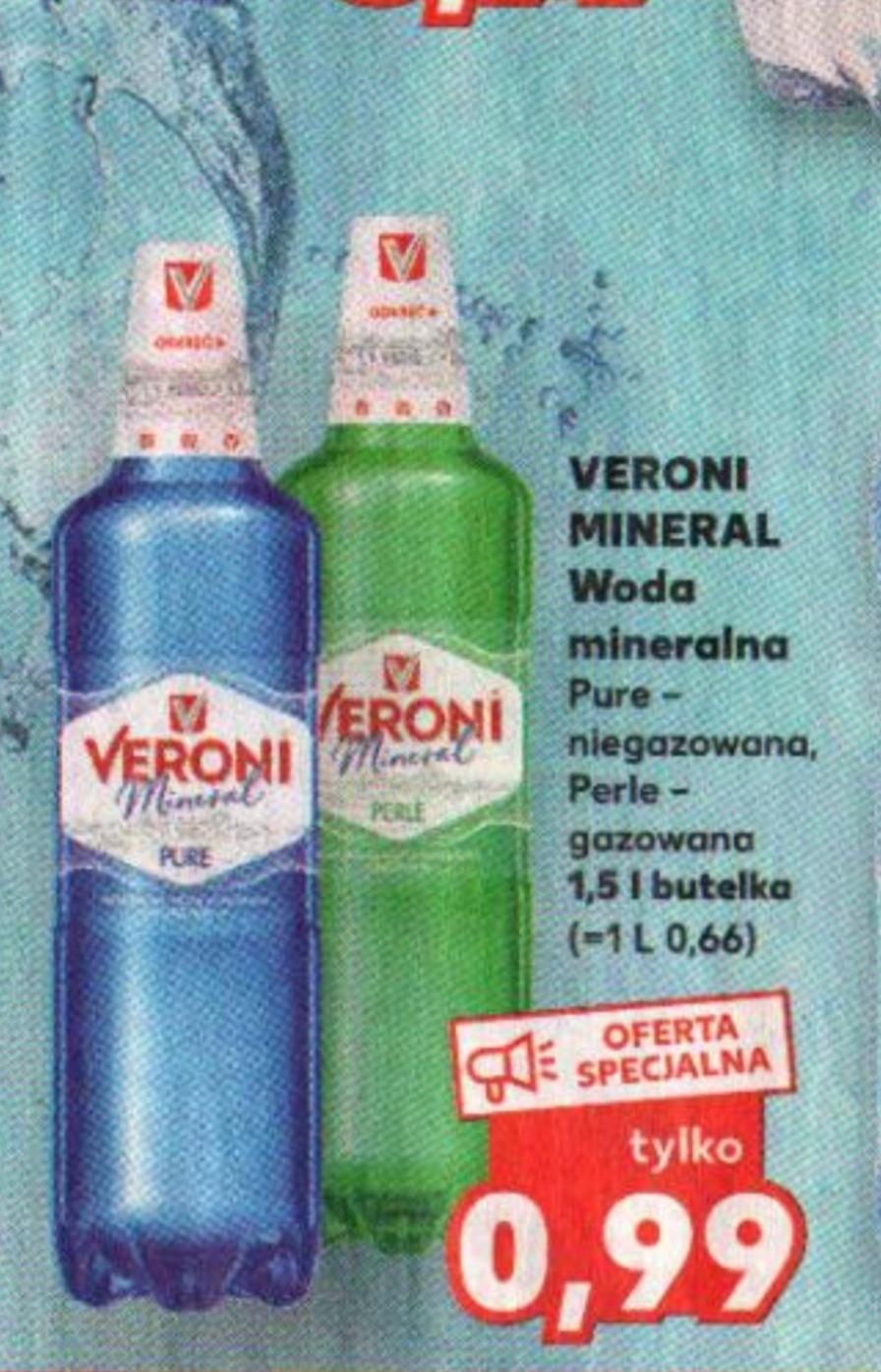 Woda mineralna Veroni 1.5 L@ Kaufland 29.10-04.11.2020