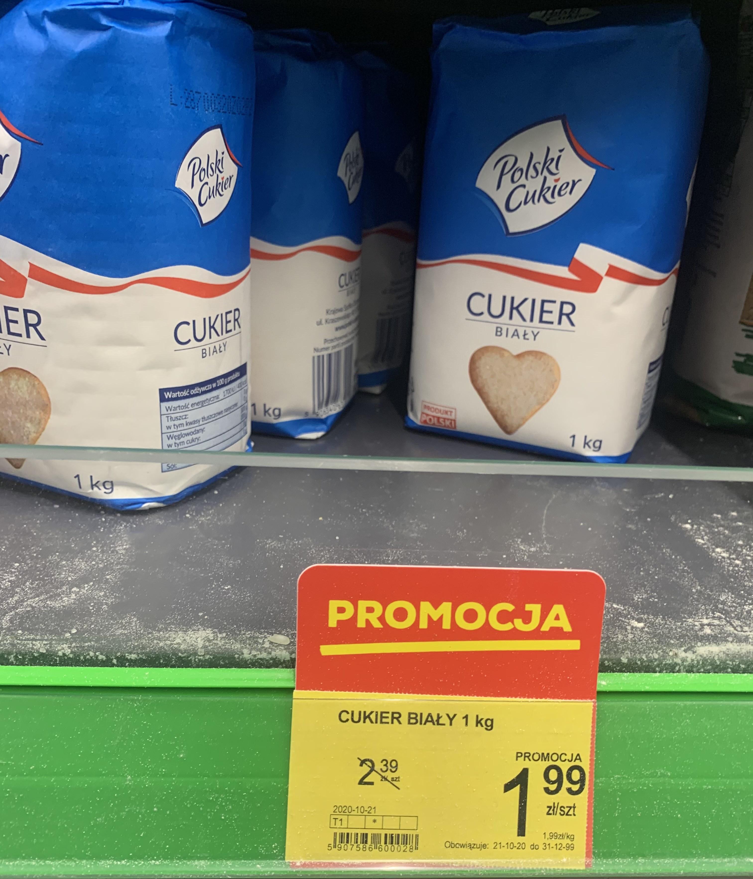 Cukier Biały Polski 1kg - Delikatesy Sędziszów