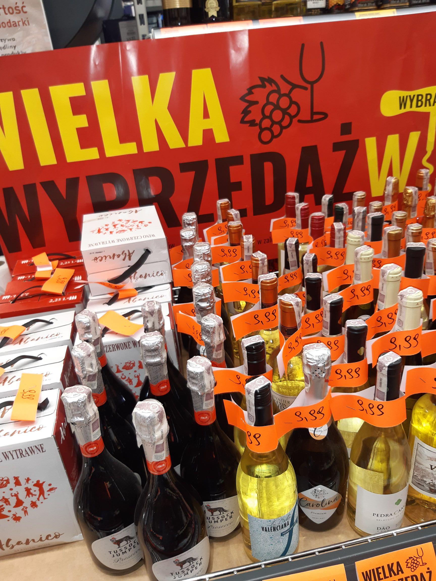 Wielka wyprzedaż win - Biedronka - ogólnopolska.