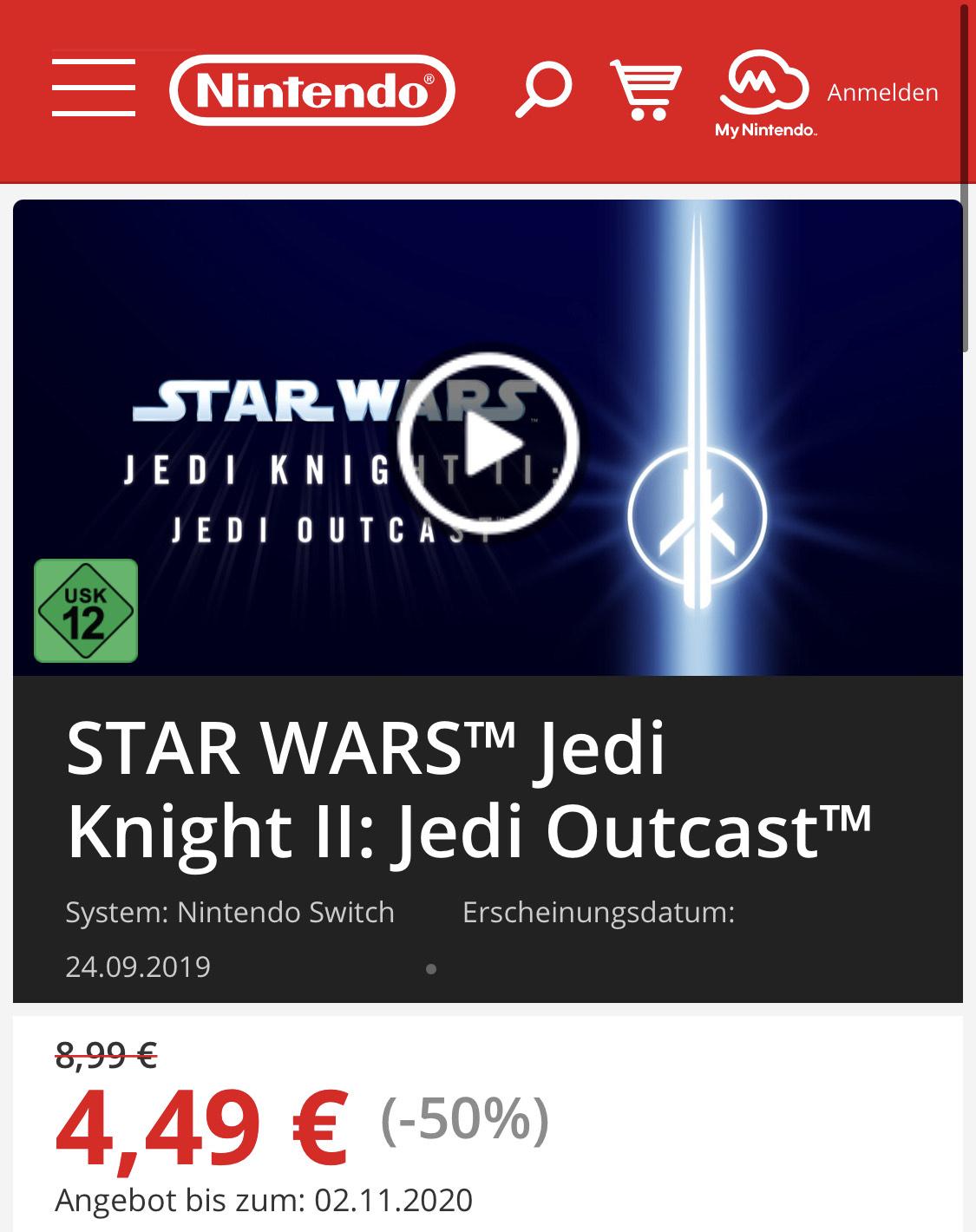Nintendo.de - STAR WARS™ Jedi Knight II: Jedi Outcast