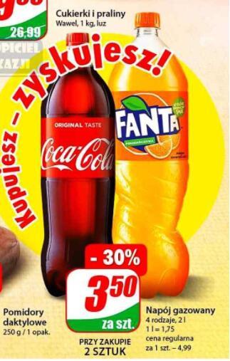 Coca-Cola, Fanta 2l przy zakupie 2 sztuk Dino