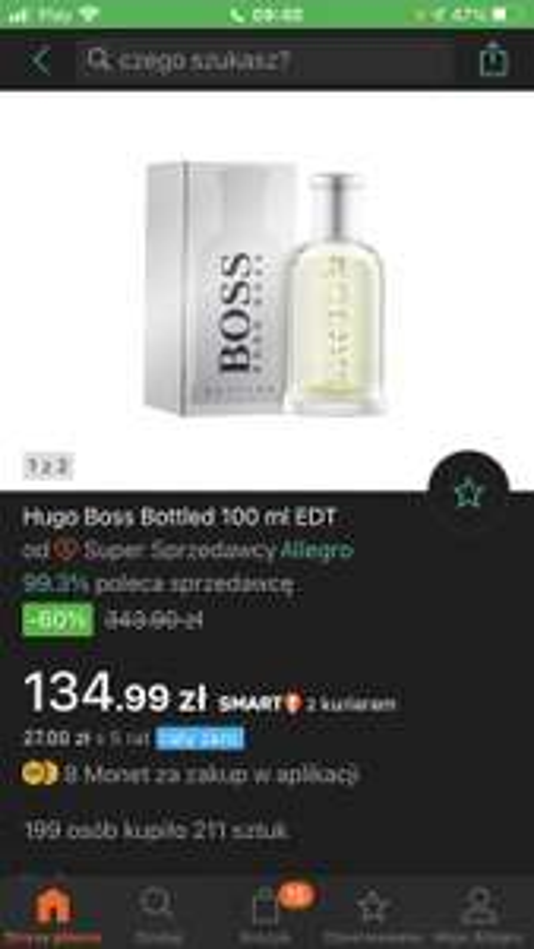 Boss bottled edt 100 ml allegro