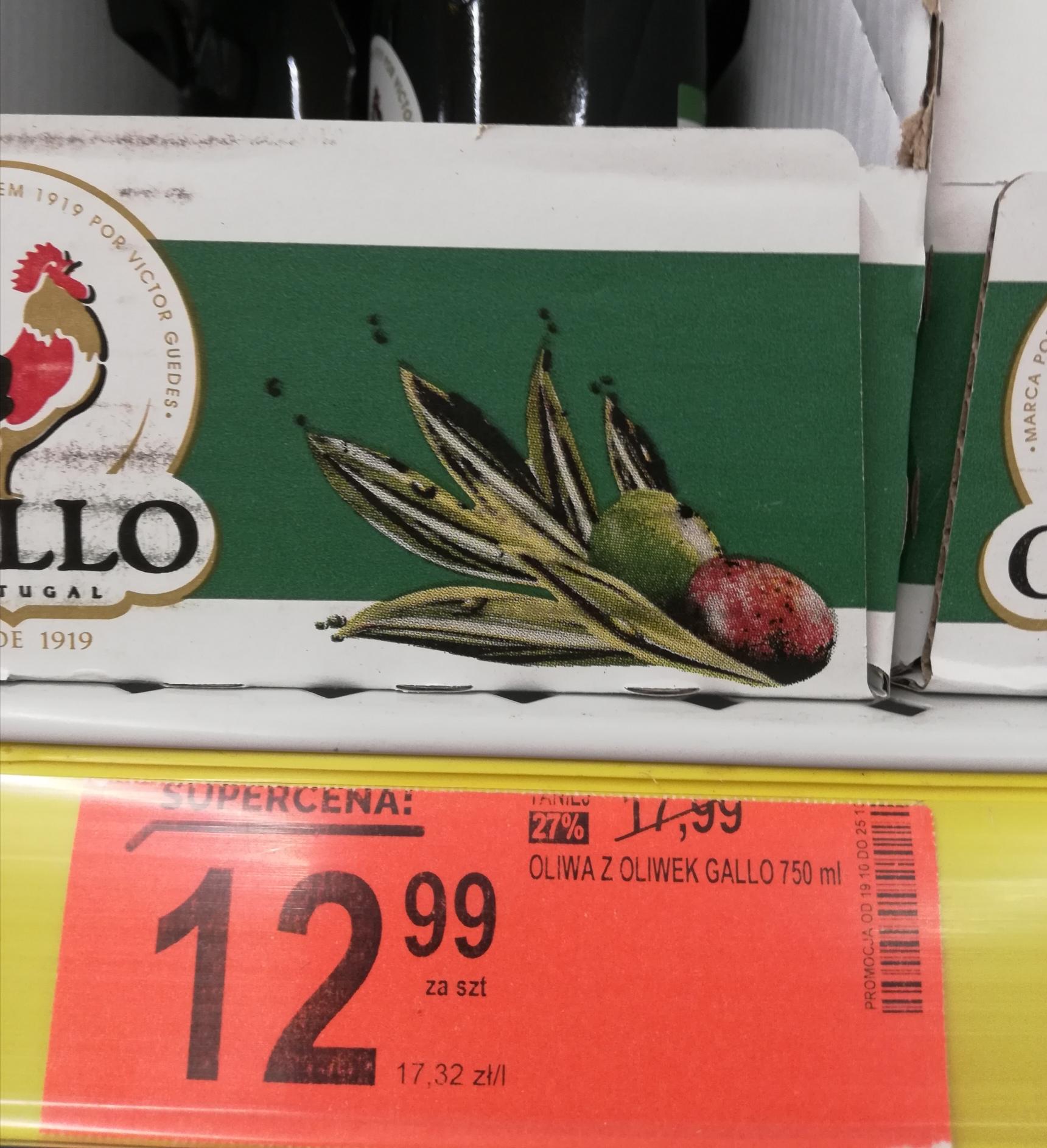 Oliwa Gallo 0,75 l. w Biedronce