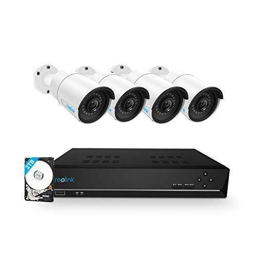 Zestaw do monitoringu kamery 5MPx, rejestrator z HDD 2TB, zintegrowany ze switchem Poe £337.76