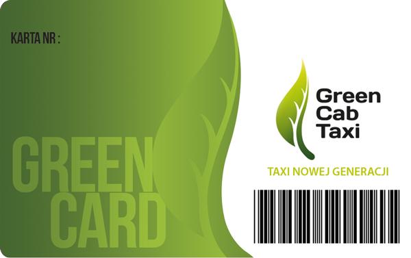 Green Cab Taxi karta przepłacona