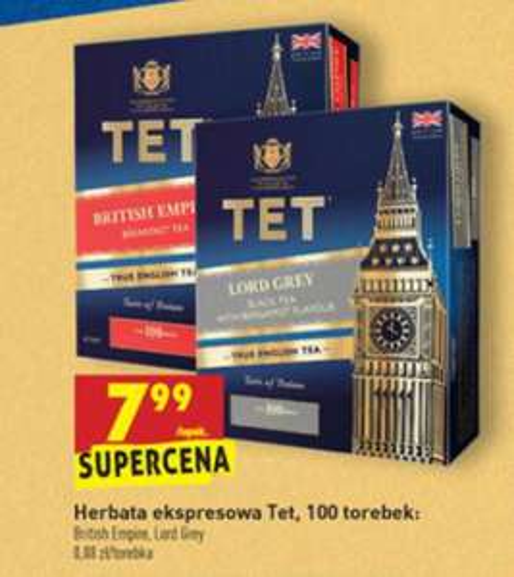 Herbata ekspresowa TET (100 torebek, 200 g)