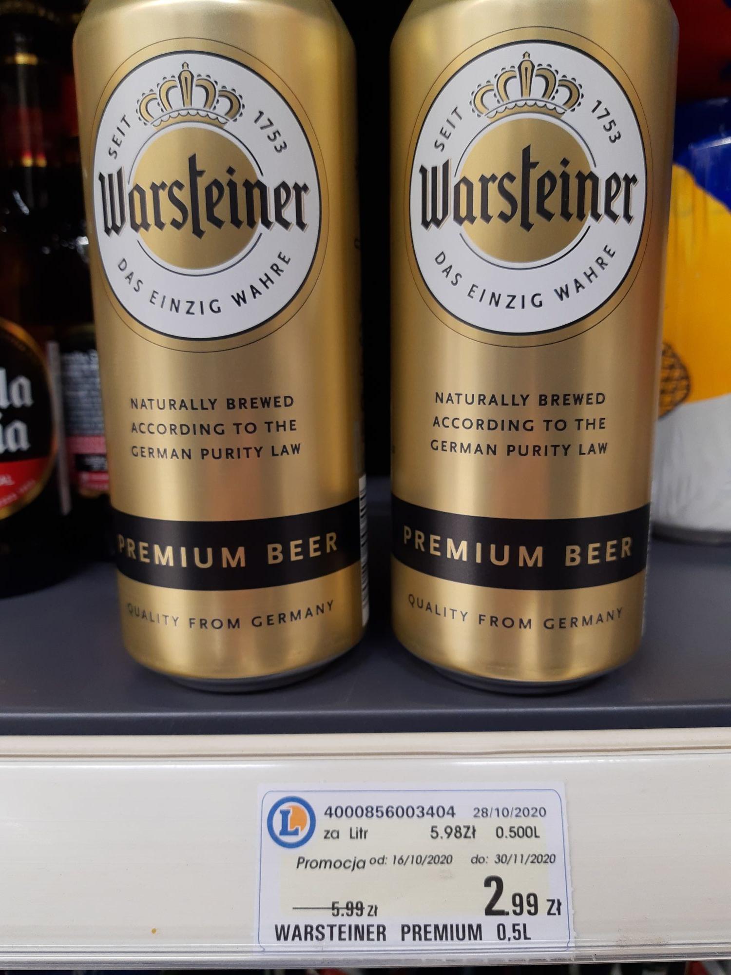 Piwo Warsteiner 2,99 zł Leclerc KEN Wawa. Możliwa ogólnopolska.