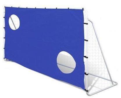 Bramka do piłki nożnej z siatką i tarczą strzelecką ENERO (215x152x76cm)