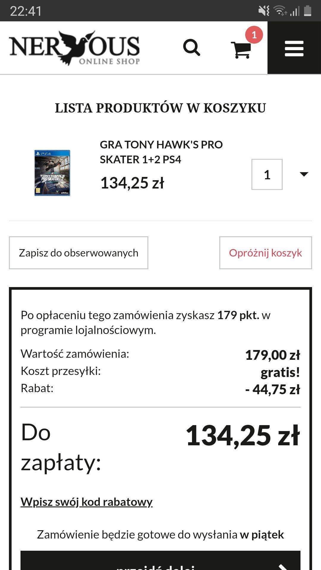 Tony Hawk's Pro Skater 1+2 PS4/XONE