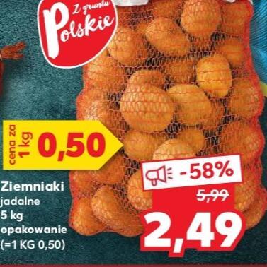 Ziemniaki 5kg za 2,49 zł Kaufland