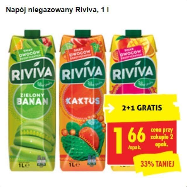 2 + 1 GRATIS - Napój niegazowany Riviva, 1 l BIEDRONKA