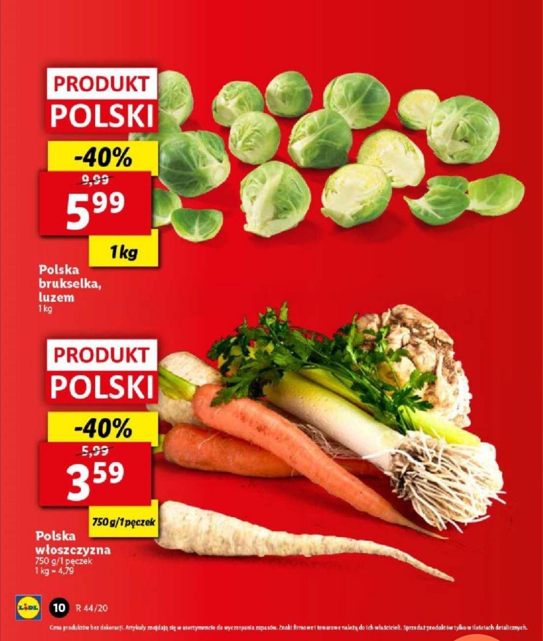 Włoszczyzna 3.59zł warzywa polskie Lidl