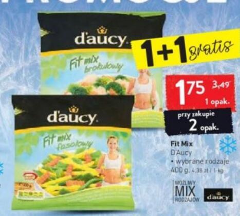 D'aucy Fit Mix 400g przy zakupie 2 opak.|Warzywa Bonduelle 400g 4,99 zł @Intermarche