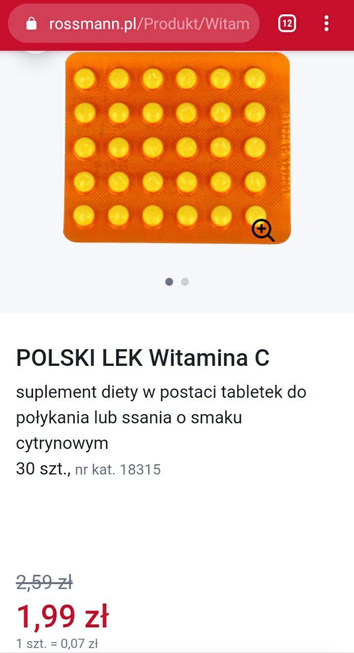 Rossmann: witamina C 100 mg 30 szt. za 1,99 zł