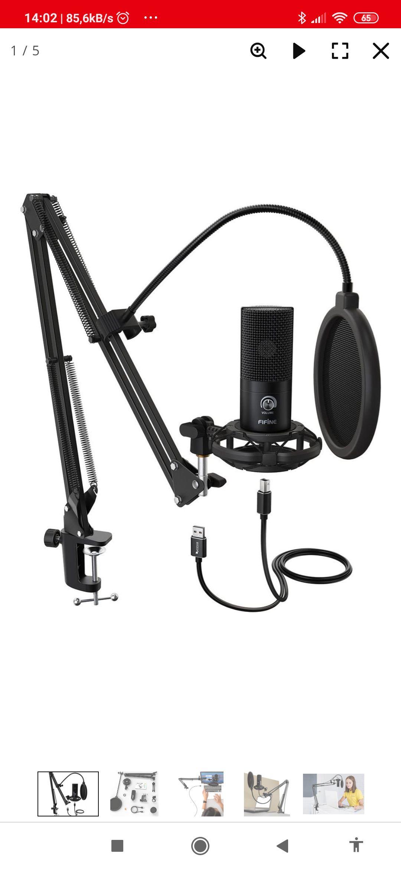 Mikrofon Fifine ZESTAW MIKROFONOWY FIFINE T669 USB POP FILTR S TATYW