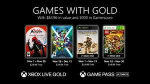 Xbox, Games with Gold, listopad